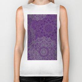 Purple Mandalas Biker Tank