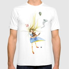 HOLD ON TOTO White Mens Fitted Tee MEDIUM