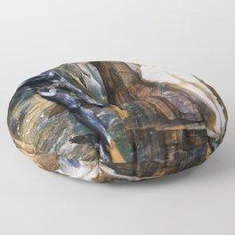 """Edward Burne-Jones """"The Rock of Doom"""" Floor Pillow"""