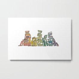 Rainbow of Books Metal Print