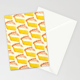 Lemon Meringue Pie Pattern Stationery Cards