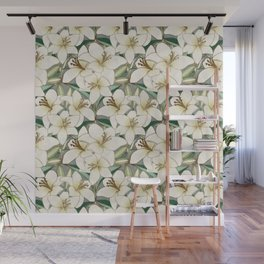 Gilding the Lilies - neutral forest shades Wall Mural