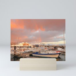 Marina in the Azores Mini Art Print