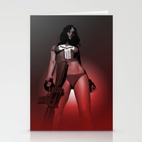 punisher Stationery Cards featuring Lady Punisher by Matthew Bartlett