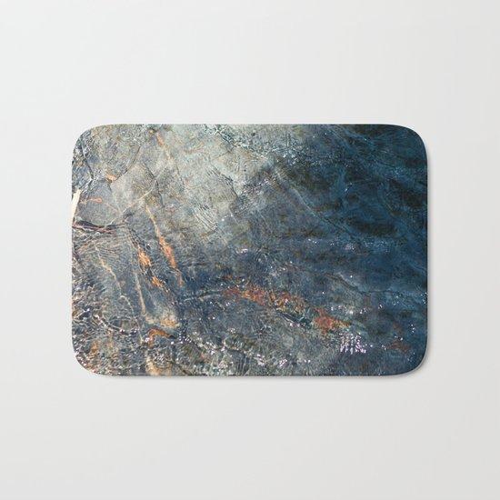 Water, Iron & Stone (Fallen Leaf Lake, California) Bath Mat