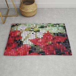 Mixed Color Poinsettias 2 Mosaic Rug