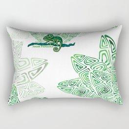 camaleon verde duotono Rectangular Pillow