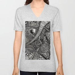 Shhh! They Can Hear Twos Unisex V-Neck