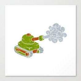 cartoon tank. Canvas Print