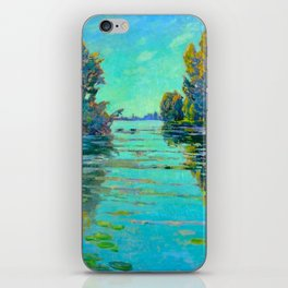 Václav Radimský (1867-1946) Waterlilies in evening light Modern Impressionist Oil Painting Colorful iPhone Skin