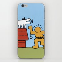 keith haring iPhone & iPod Skins featuring Keith Haring + Charles Schulz by Jared Yamahata