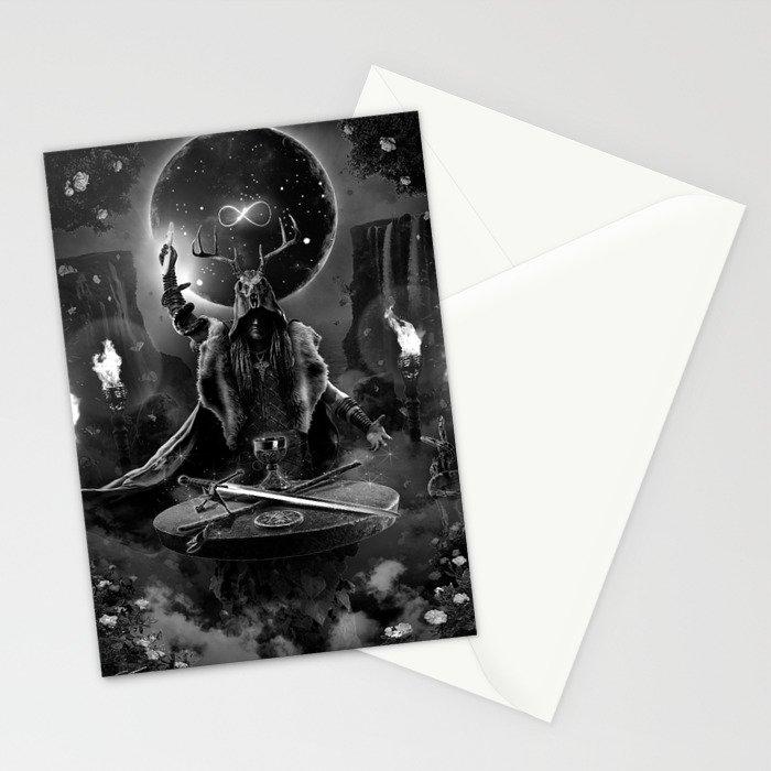 I. The Magician Tarot Card Illustration Stationery Cards
