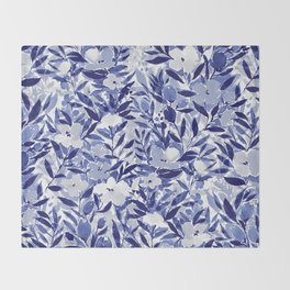 Nonchalant Indigo Throw Blanket