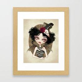 Countess Nocturne Vampire Framed Art Print