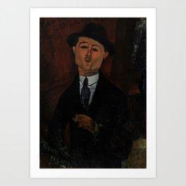 Amedeo Modigliani - Paul Guillaume, Novo Pilota Art Print