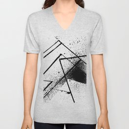 black and white spray paint Unisex V-Neck