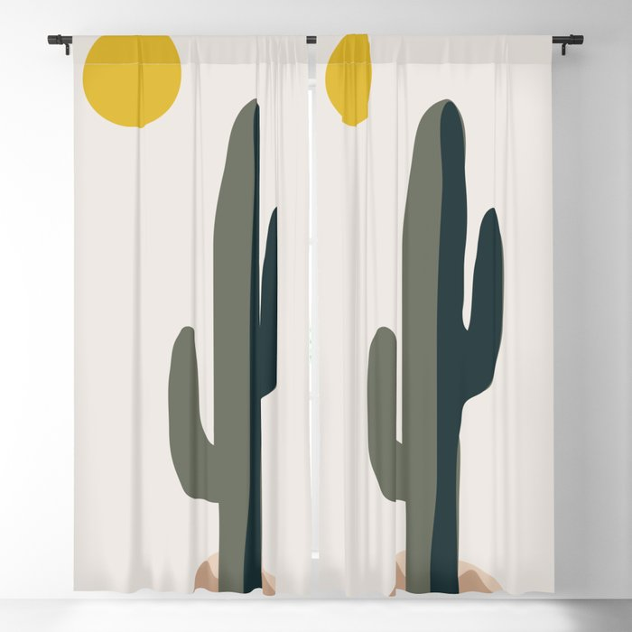Cactus and the Rising Sun Blackout Curtain
