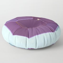 Sparkle and shine violet gem retro illustration Floor Pillow