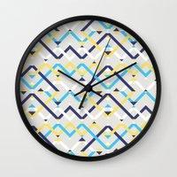 navy Wall Clocks featuring Navy by La Señora