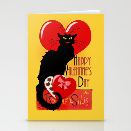 Le Chat Noir Valentine Stationery Cards