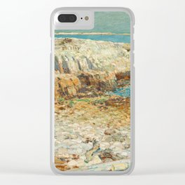 A North East Headland Oil Painting by Childe Hassam Clear iPhone Case