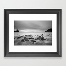 Talisker Beach B&W Framed Art Print
