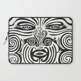 Maori Moko | Tribal Tattoo | New Zealand | Black and White Laptop Sleeve