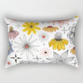 eclectic flower pattern Rectangular Pillow