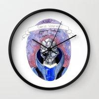 garrus Wall Clocks featuring Mass Effect: Garrus by Sunol Golden