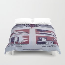 Vintage poster - Carelessness Causes Fires Duvet Cover