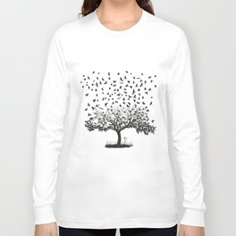 Crows in a tree Long Sleeve T-shirt