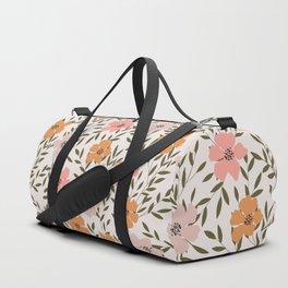70s Floral Theme Duffle Bag