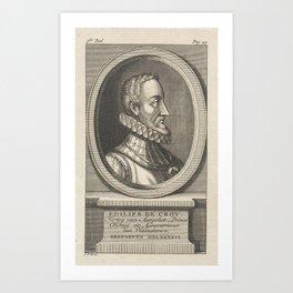 Portrait of Philip III of Croÿ, Duke of Aarschot, Prince of Chimay, Jan Punt, 1750 Art Print