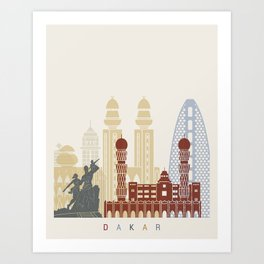 Dakar skyline poster Art Print