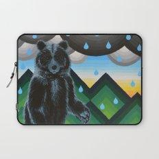 Geometric Black Bear Laptop Sleeve