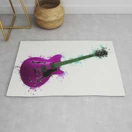 Electric Guitar Purple Rug