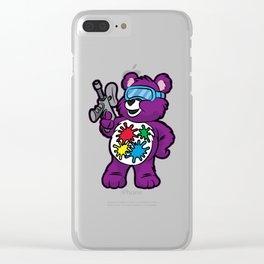 PAINTBALL GUN TEDDY Bear Marker Softair Present Clear iPhone Case