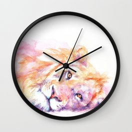 Lazy Days - African Lion Wall Clock
