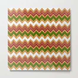 Christmas zigzag pattern Metal Print