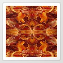 Fried Bacon Art Print
