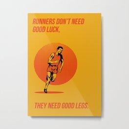 Runner Running Marathon Poster Metal Print