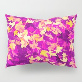 Autumn Leaves (pink & yellow) Pillow Sham