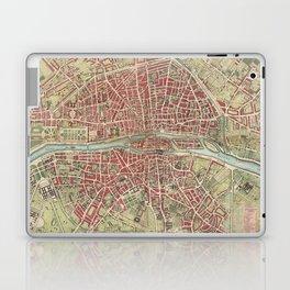 Vintage Map of Paris France (1784) Laptop & iPad Skin