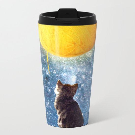 A Yarn of Moon Metal Travel Mug