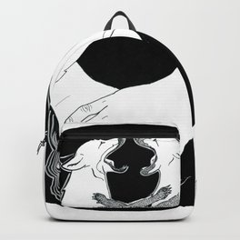 Friendship and enmity - Ink artwork Backpack