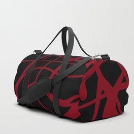 Red lines on a black background. Duffle Bag
