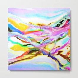 Coastal Color Abstract Metal Print