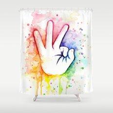 Tight Rainbow Shower Curtain