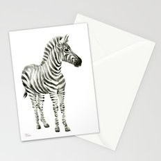 Zebra Watercolor Baby Animals Stationery Cards