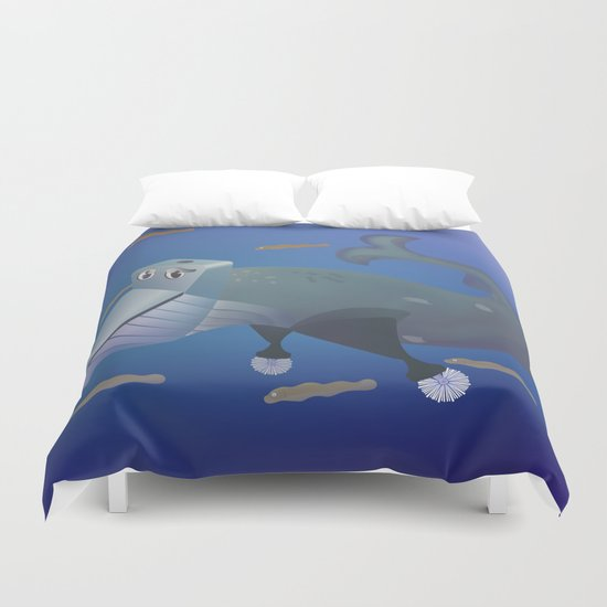 Wc of Whale Duvet Cover